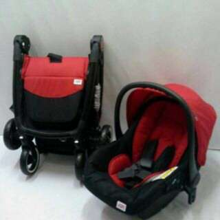 Sweet Cherry SCR15 Stroller with Carrier Car seat (Red)