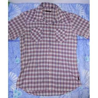 BONA VITA Plaid Collared Shirt