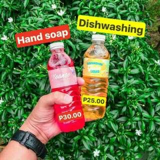 Hand Soap and Dishwashing Liquid