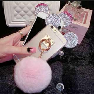 Mickey mouse ears with rhinestones case Samsung a5