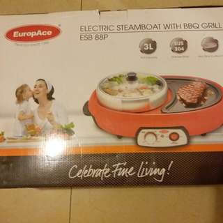 ELECTRIC STEAMBOAT WITH BBC GRILL