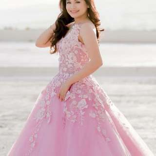Debutant Gown, Pink Ball Gown