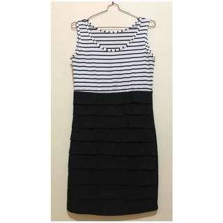 Dress Bodycon stripes black n white