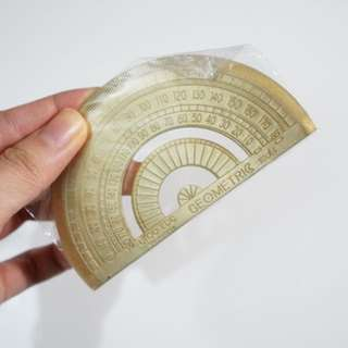 Gold Protractor Ruler