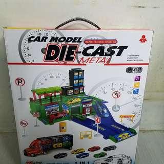 Die-cast metal fashion alloy car park