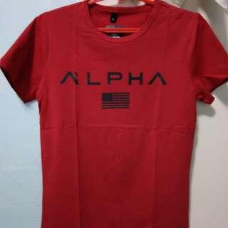 Red alpha T shirt M size