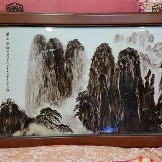 Rare Huang Shan (黄山) Porcelain pajnting
