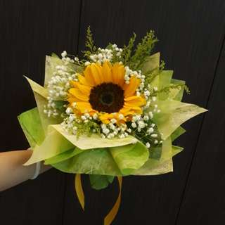 Round Sunflower Bouquet