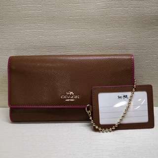 Authentic Coach Wallet with ID Card Holder