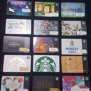 AUTHENTIC STARBUCKS CARDS (collectibles)