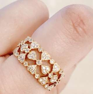 18k黃金鑽石介指 18k yellow gold diamond ring