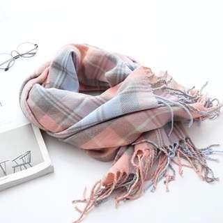 日韓簡約風格滑棉頸巾(三色選擇)