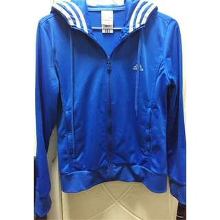🚚 Adidas 緞面連帽運動外套