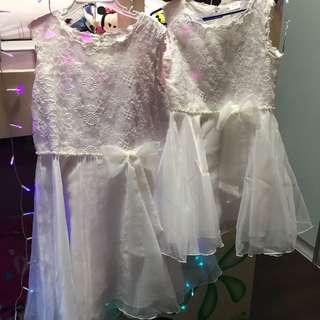 BN girl white dress