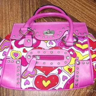 Pink hand bag