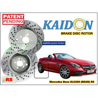 "Mercedes Benz SLC200 brake disc rotor KAIDON (REAR) type ""RS"" / ""BS"" spec"