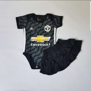 Manchester United black baby romper (3m-9m)