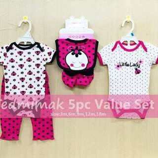 Carter's 5 Piece Value Set For Baby Girl