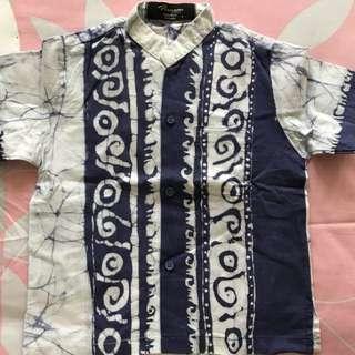 Boys batik cotton shirt