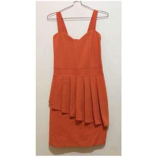 Dress party pesta bodycon orange
