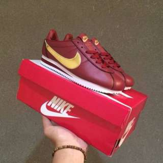 Nike Cortez Classic Leather Forest Maroon