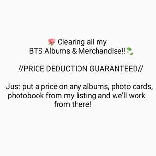 BTS Albums, PCs And PHOTOBOOK Discounted/Sale