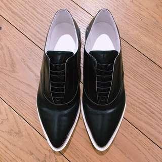 Jil Sander 黑白色紳士鞋 Jil Sander Black & white lace up shoes