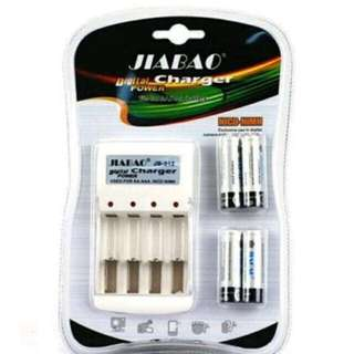 Jiabao Rechargeable Battery for AA and AAA with 4pcs
