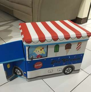 Toys Storage Box Ice Cream Bus
