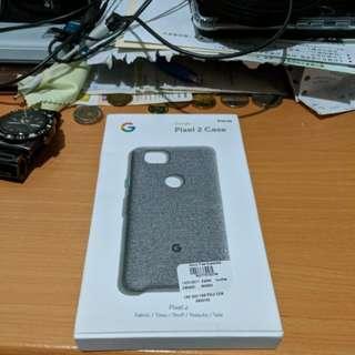 Authentic Google Pixel 2 Fabric Case Light Grey