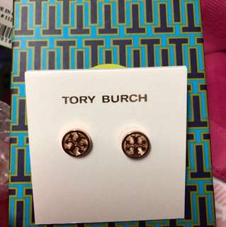 Tory Burch earring 耳環全新正品 rose gold silver