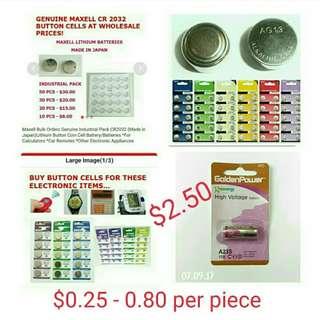 Coin Button Battery                                                               Top Seller sg