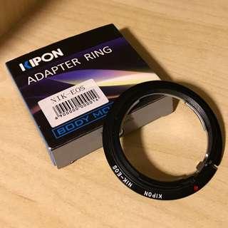Adapter ring NIKON-EOS