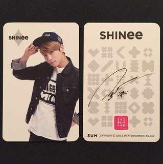 SHINee 鍾鉉SM官方簽名小咭一張