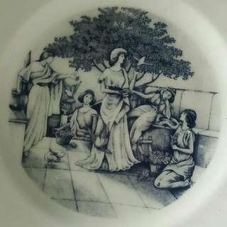 Pajangan piring keramik motif eropa