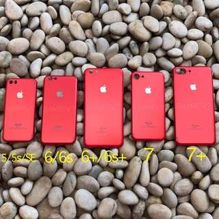 Premium Red Thin Hard Case Hardcase for Iphone 5/5s/SE/6+/6s/6s+/7/7+