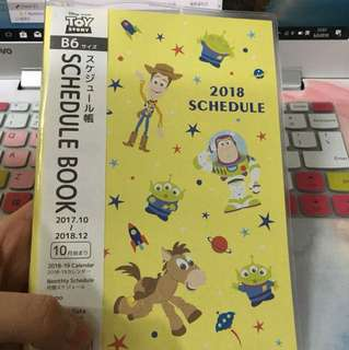 Schedule book Disney toystory 2018