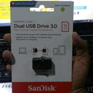 SANDISK ULTRA (16GB) - DUAL USB DRIVE 3.0