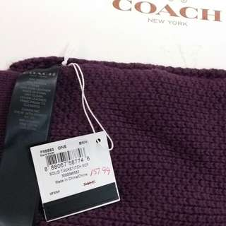 Coach scarf (深紫色頸巾)