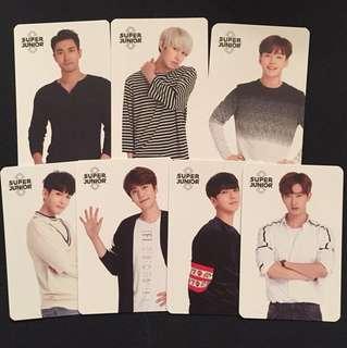 Super Junior 官方SM簽名小咭(一張$30)