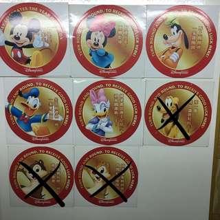 香港迪士尼 貼紙 新年版