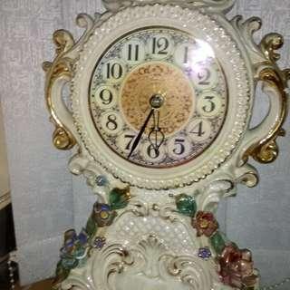50年英國手繪上鍊古董鐘