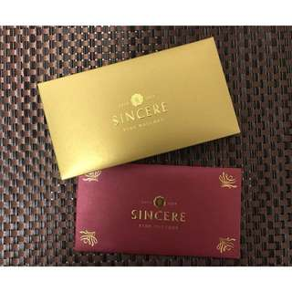 Sincere watches red packets / Ang Bao