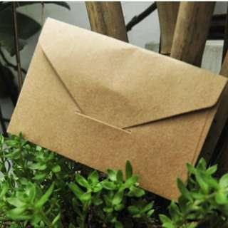 Kraft Gift Card Mini Envelope
