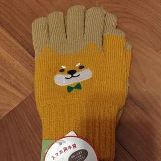 柴犬手套手襪