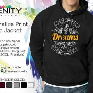 Hoodie Jacket with Personalize Print