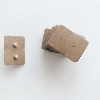 Earring Studs Kraft Card
