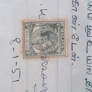 MALAYA MALACCA - 1951 - PROMISSORY RECEIPT in TAMIL - in152