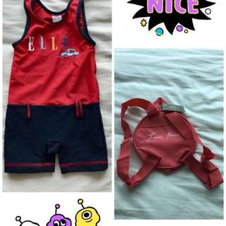 Elle swimsuit and brand new backpack