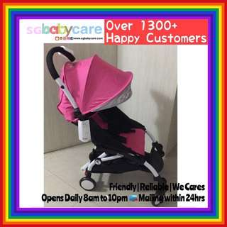 BN Yoya Like Stroller's Canopy + Seat Set - Pink with silver lining